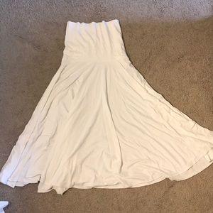 J.Crew White Stretch Convertible Dress